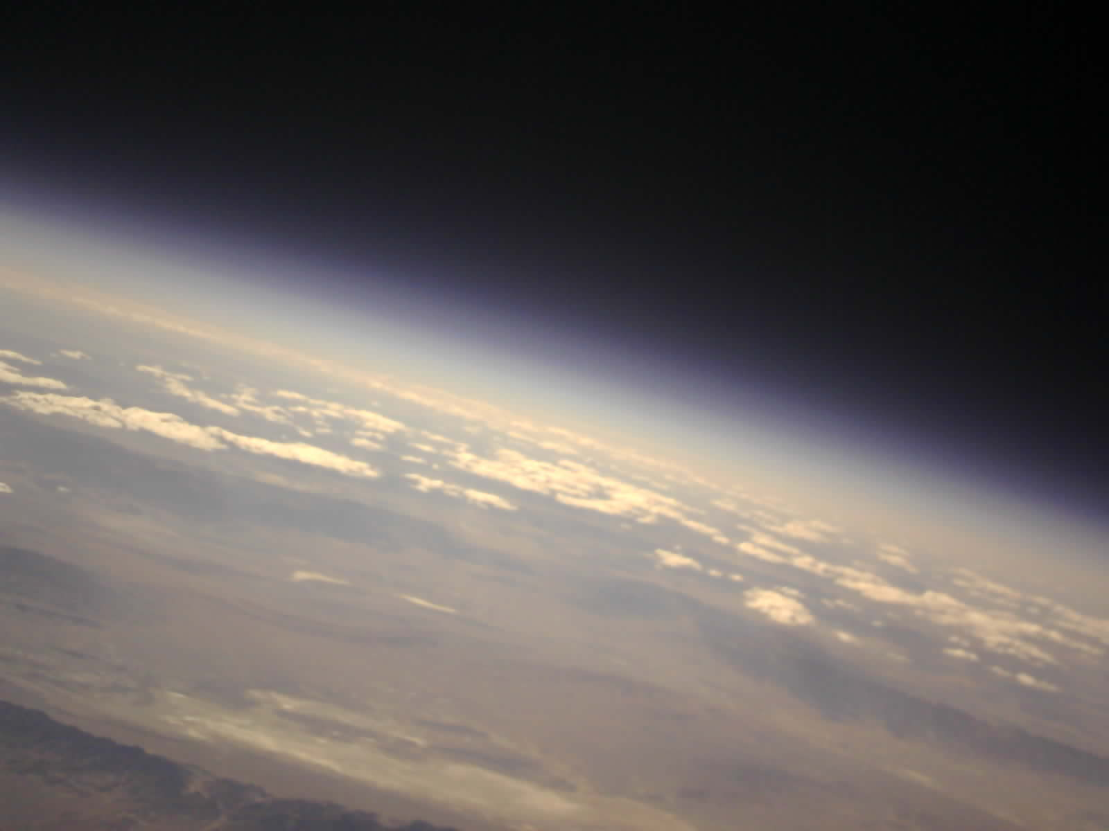 Curvature of the earth from space